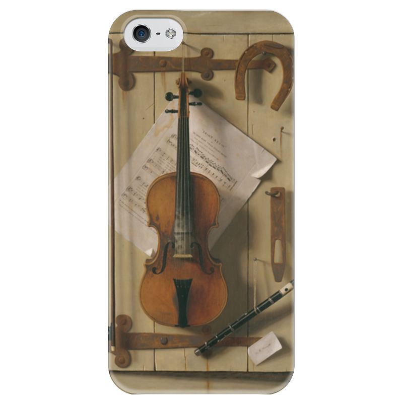 Чехол для iPhone 5 глянцевый, с полной запечаткой Printio Натюрморт со скрипкой (уильям харнетт) чехол для samsung galaxy s5 printio натюрморт со скрипкой уильям харнетт