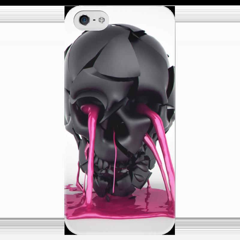 Чехол для iPhone 5 глянцевый, с полной запечаткой Printio Plastic skull чехол для iphone 5 глянцевый с полной запечаткой printio red skull