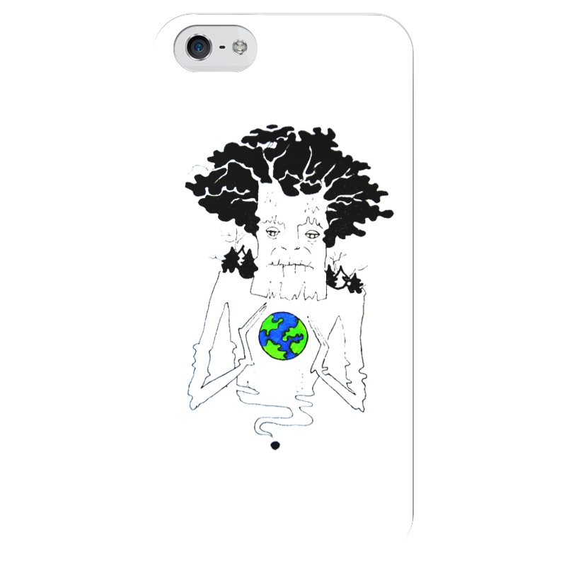 Чехол для iPhone 5 глянцевый, с полной запечаткой Printio Деревоземли чехол для iphone 5 глянцевый с полной запечаткой printio пилот