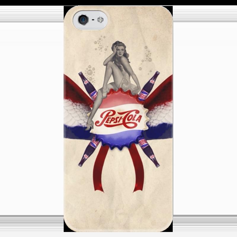 Чехол для iPhone 5 глянцевый, с полной запечаткой Printio Pepsi чехол для iphone 5 глянцевый с полной запечаткой printio ember spirit dota 2
