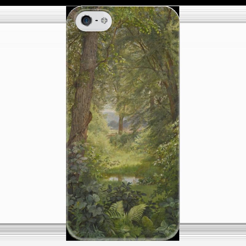 Чехол для iPhone 5 глянцевый, с полной запечаткой Printio Лесной пейзаж (уильям трост ричардс ) футболка для беременных printio кит ричардс