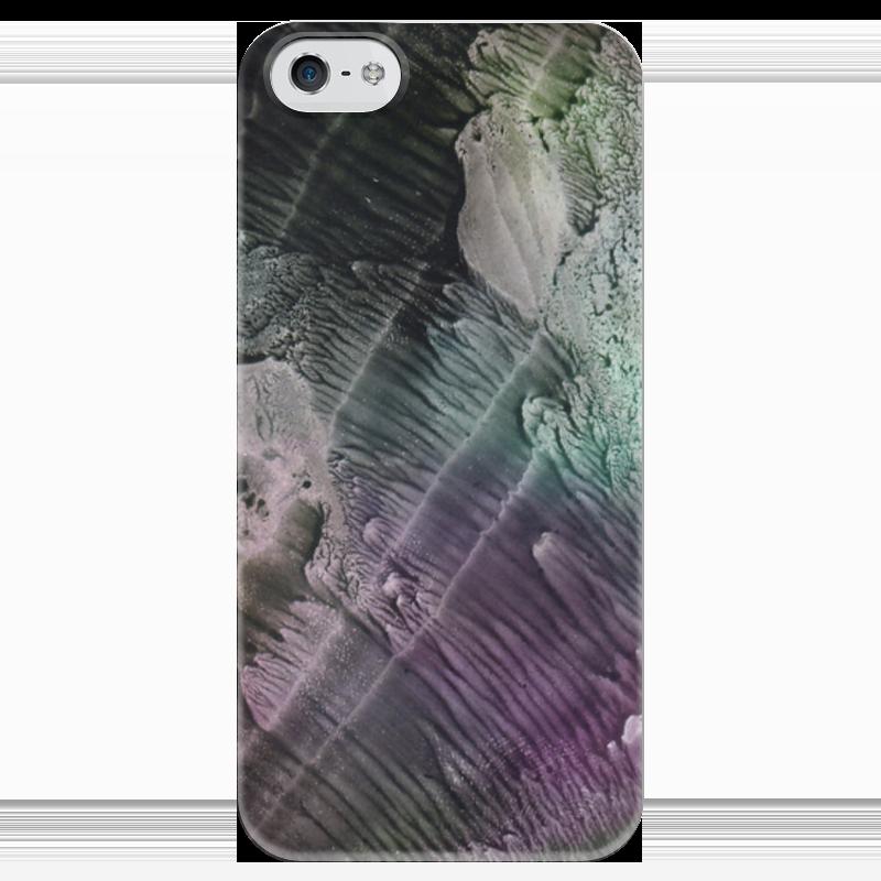 купить Чехол для iPhone 5 глянцевый, с полной запечаткой Printio Акварелька по цене 1080 рублей