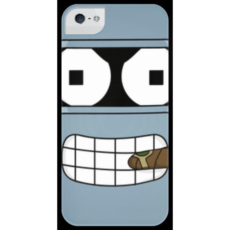 Чехол для iPhone 5 глянцевый, с полной запечаткой Printio Бендер чехол для iphone 5 глянцевый с полной запечаткой printio иллид