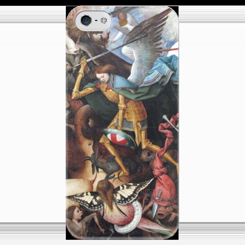 Чехол для iPhone 5 глянцевый, с полной запечаткой Printio Архангел михаил