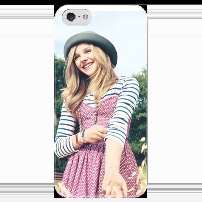 Чехол для iPhone 5 глянцевый, с полной запечаткой Printio Хлоя морец чехол