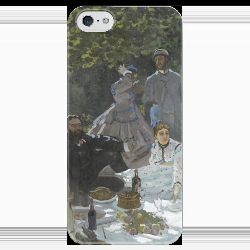 Чехол для iPhone 5 глянцевый, с полной запечаткой Printio Завтрак на траве (клод моне) 1866 пазл 73 5 x 48 8 1000 элементов printio сад художника в аржантее клод моне