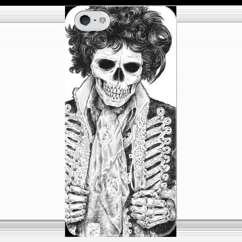 Чехол для iPhone 5 глянцевый, с полной запечаткой Printio Скелет гусара чехол для iphone 4 глянцевый с полной запечаткой printio череп