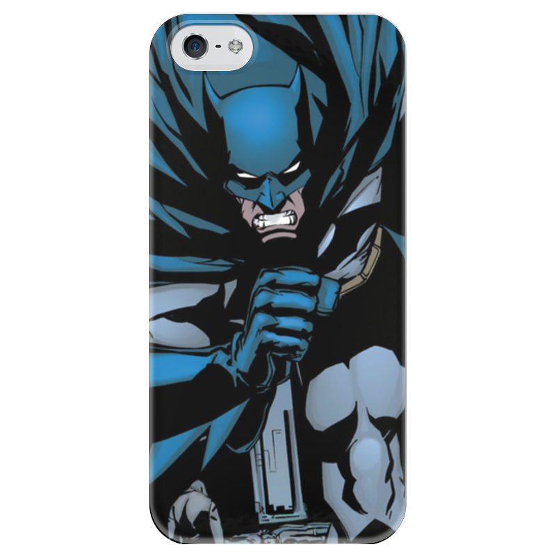 Чехол для iPhone 5 глянцевый, с полной запечаткой Printio Бэтмен чехол для iphone 5 глянцевый с полной запечаткой printio combeep