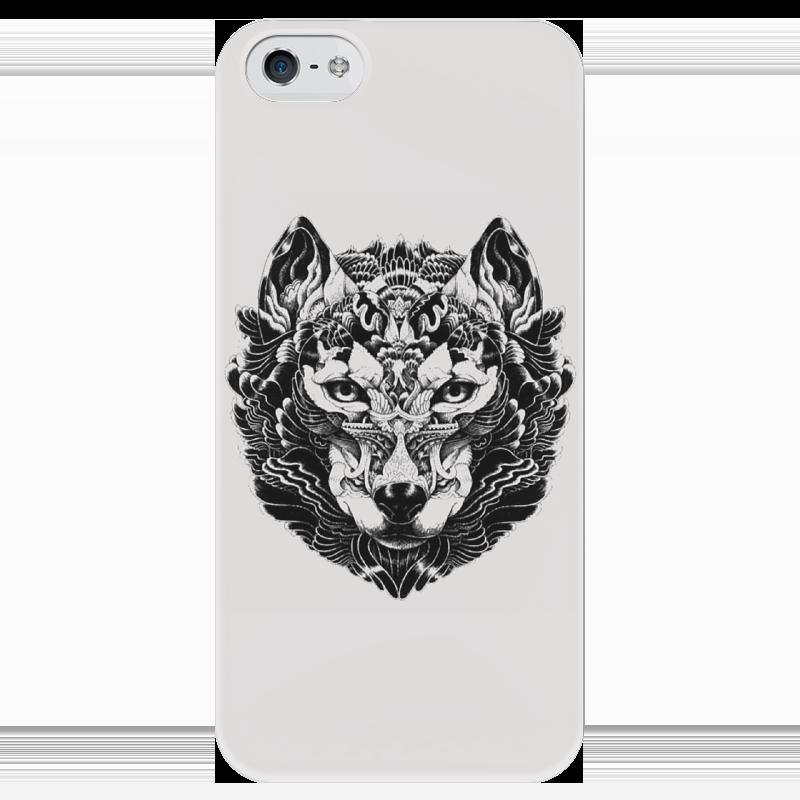 Чехол для iPhone 5 глянцевый, с полной запечаткой Printio Волк стилизация 2 чехол для iphone 5 глянцевый с полной запечаткой printio ember spirit dota 2