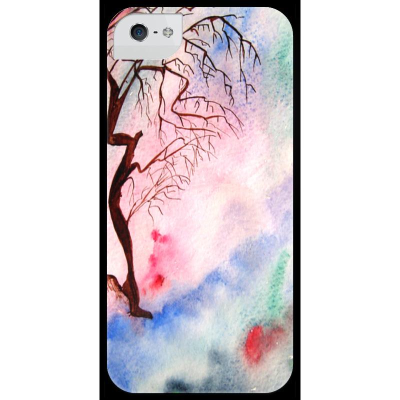 Чехол для iPhone 5 глянцевый, с полной запечаткой Printio Sakura