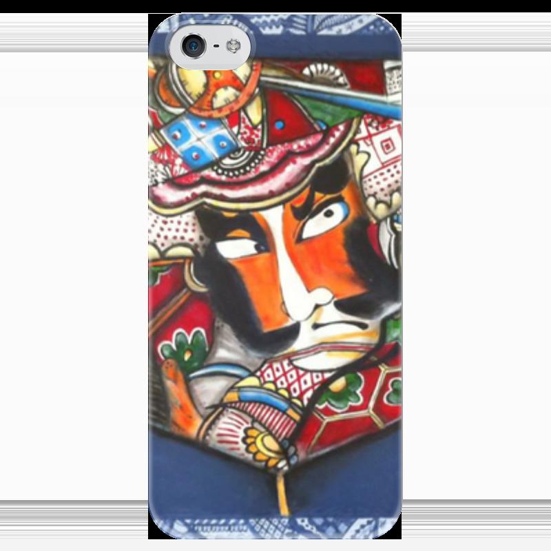 Чехол для iPhone 5 глянцевый, с полной запечаткой Printio Самурай чехол для iphone 5 глянцевый с полной запечаткой printio ember spirit dota 2