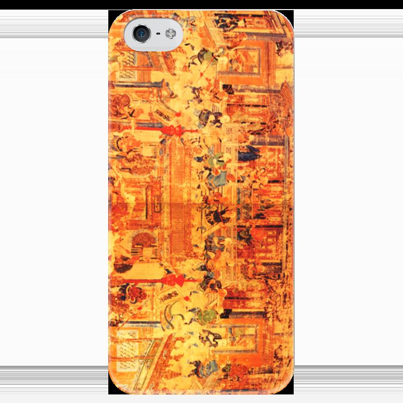 Чехол для iPhone 5 глянцевый, с полной запечаткой Printio Шаолинь оптом из китая копии iphone
