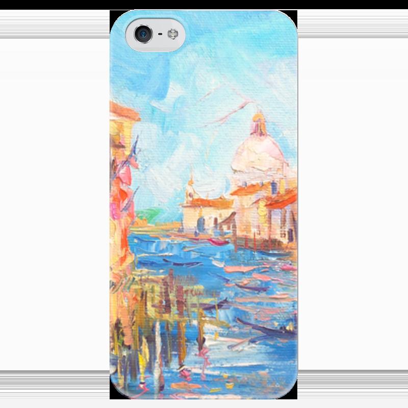 Чехол для iPhone 5 глянцевый, с полной запечаткой Printio Гранд-канал венеции чехол для iphone 5 глянцевый с полной запечаткой printio не трогай мой телефон