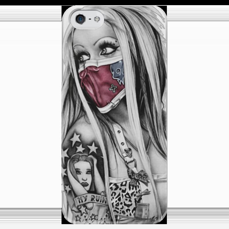 Чехол для iPhone 5 глянцевый, с полной запечаткой Printio Girl чехол для iphone 7 глянцевый printio skull art