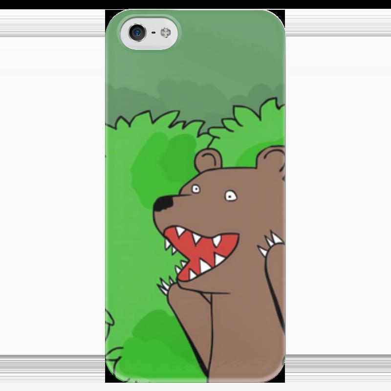 Чехол для iPhone 5 глянцевый, с полной запечаткой Printio Медведь из кустов андрей кустов