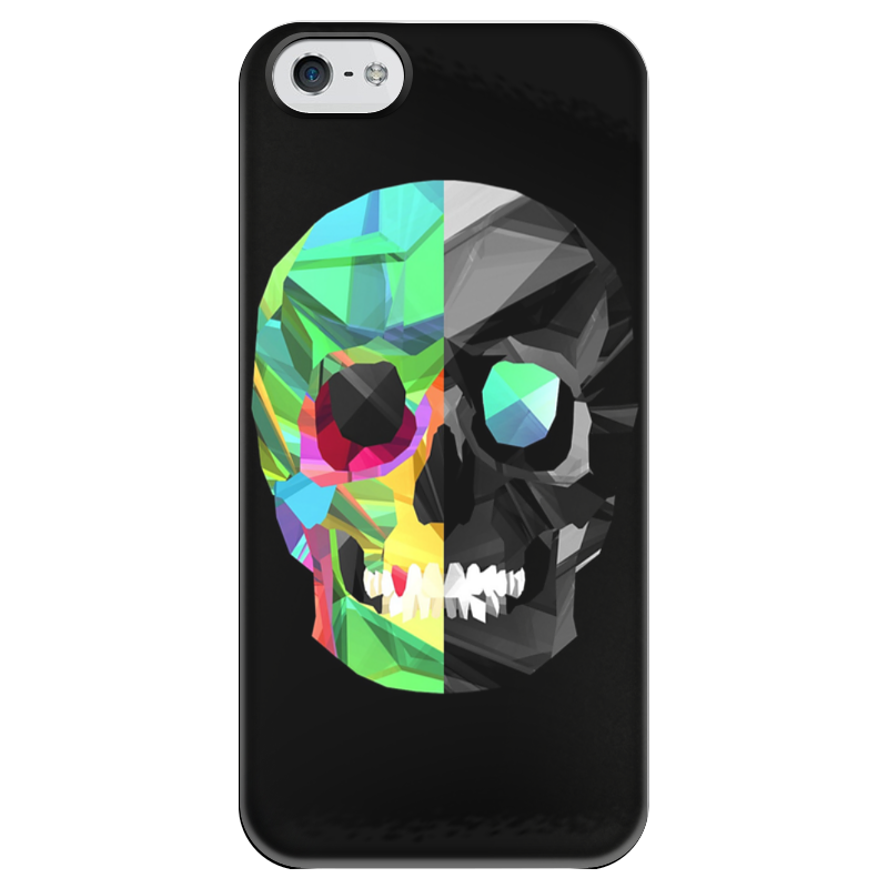 Чехол для iPhone 5 глянцевый, с полной запечаткой Printio Digital skull чехол для iphone 5 глянцевый с полной запечаткой printio candy skull