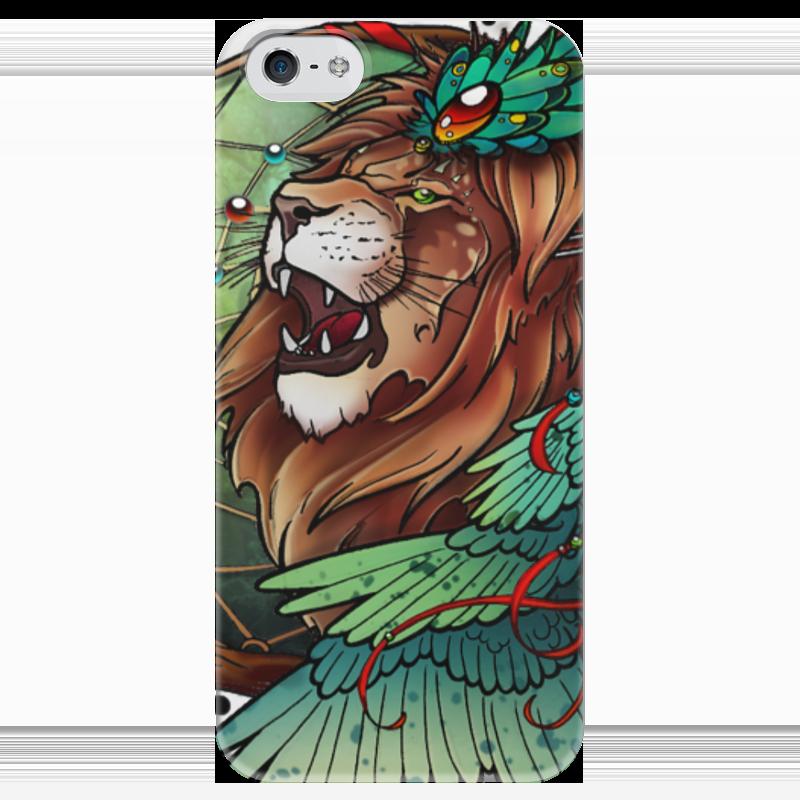 Чехол для iPhone 5 глянцевый, с полной запечаткой Printio Lion's wings чехол для iphone 5 глянцевый с полной запечаткой printio red wings detroit
