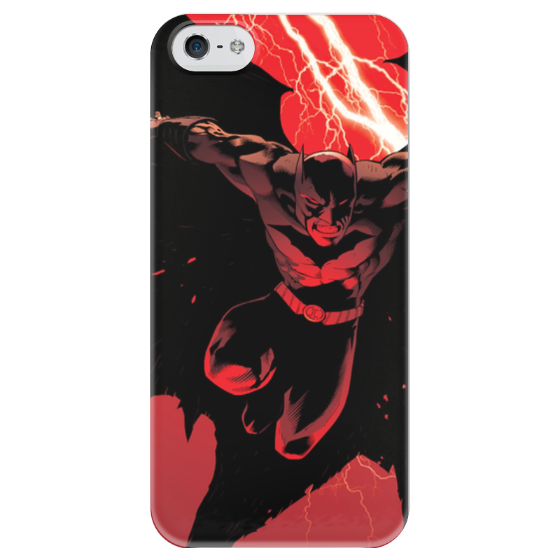 Чехол для iPhone 5 глянцевый, с полной запечаткой Printio Бэтмен чехол для iphone 5 глянцевый с полной запечаткой printio bruce black white