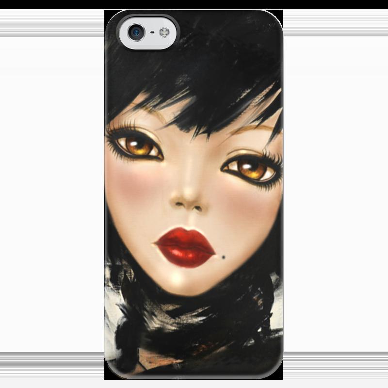 Чехол для iPhone 5 глянцевый, с полной запечаткой Printio Mimi yoon art #3 я immersive digital art 2018 02 10t19 30
