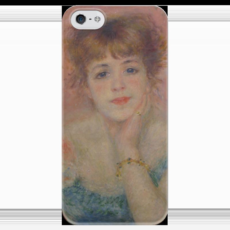 Чехол для iPhone 5 глянцевый, с полной запечаткой Printio Портрет актрисы жанны самари (ренуар)