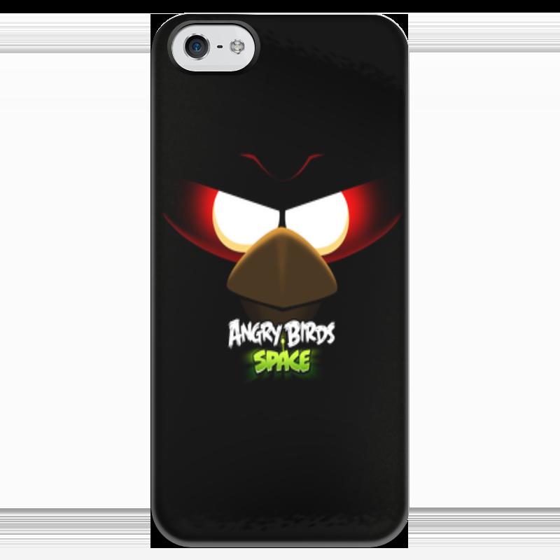 Чехол для iPhone 5 глянцевый, с полной запечаткой Printio Space (angry birds) чехол для iphone 6 глянцевый printio birds