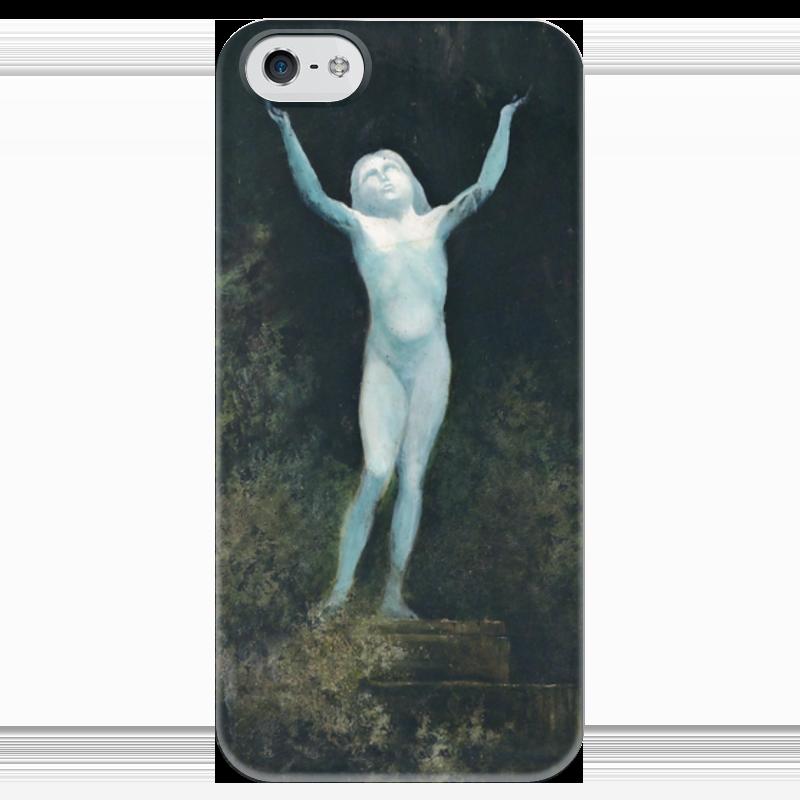 Чехол для iPhone 5 глянцевый, с полной запечаткой Printio Видение (карл вильгельм дифенбах)