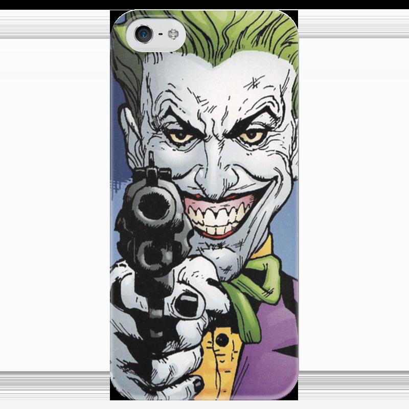 Чехол для iPhone 5 глянцевый, с полной запечаткой Printio Суперзлодеи: джокер чехол для iphone 5 глянцевый с полной запечаткой printio суперзлодеи deadpool