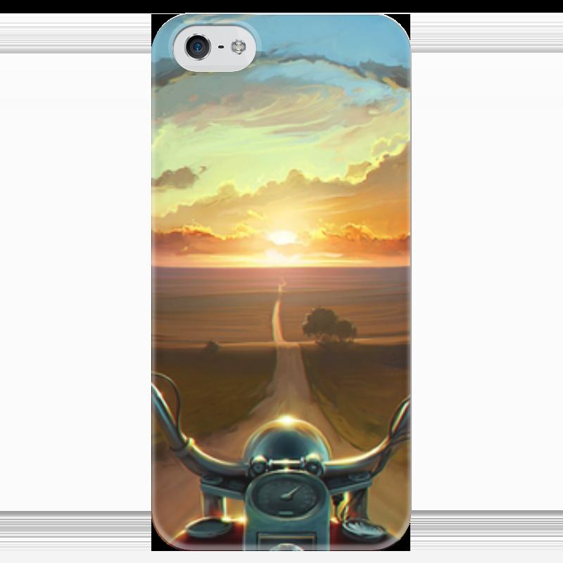 Чехол для iPhone 5 глянцевый, с полной запечаткой Printio Закат чехол для iphone 5 глянцевый с полной запечаткой printio пилот