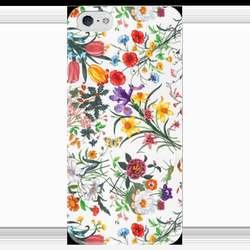 Чехол для iPhone 5 глянцевый, с полной запечаткой Printio Цветы чехол для iphone 5 глянцевый с полной запечаткой printio ember spirit dota 2
