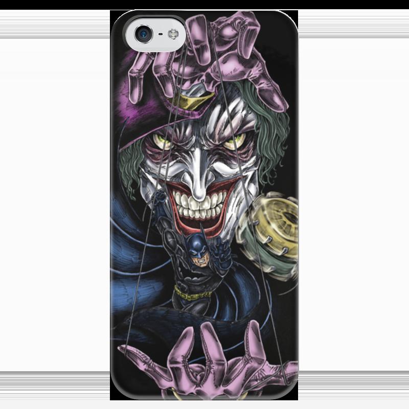 Чехол для iPhone 5 глянцевый, с полной запечаткой Printio Joker & batman чехол для iphone 4 глянцевый с полной запечаткой printio эфиопка