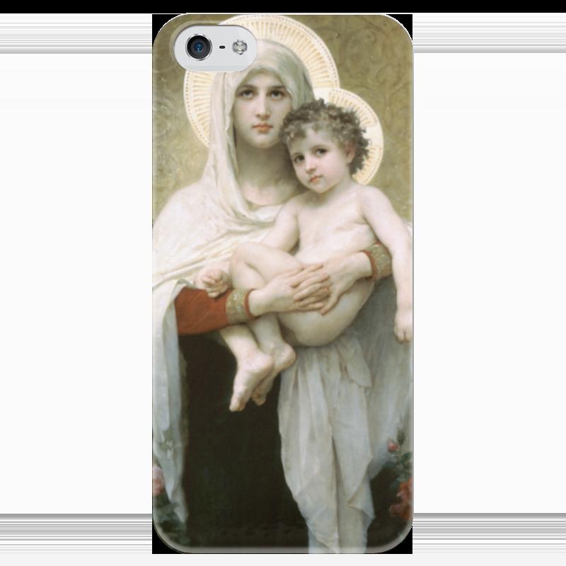 Чехол для iPhone 5 глянцевый, с полной запечаткой Printio Мадонна с розами (la madone aux roses)