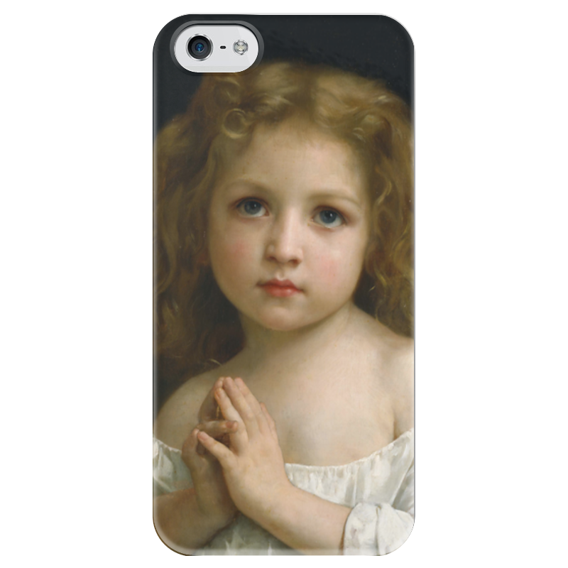 Чехол для iPhone 5 глянцевый, с полной запечаткой Printio Молитва (la prière) чехол для iphone 5 глянцевый с полной запечаткой printio последняя молитва христианских мучеников жером