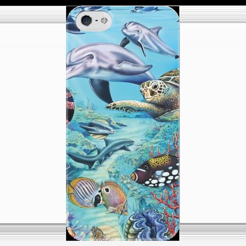 Чехол для iPhone 5 глянцевый, с полной запечаткой Printio Морские животные алексеева е кит и другие морские животные