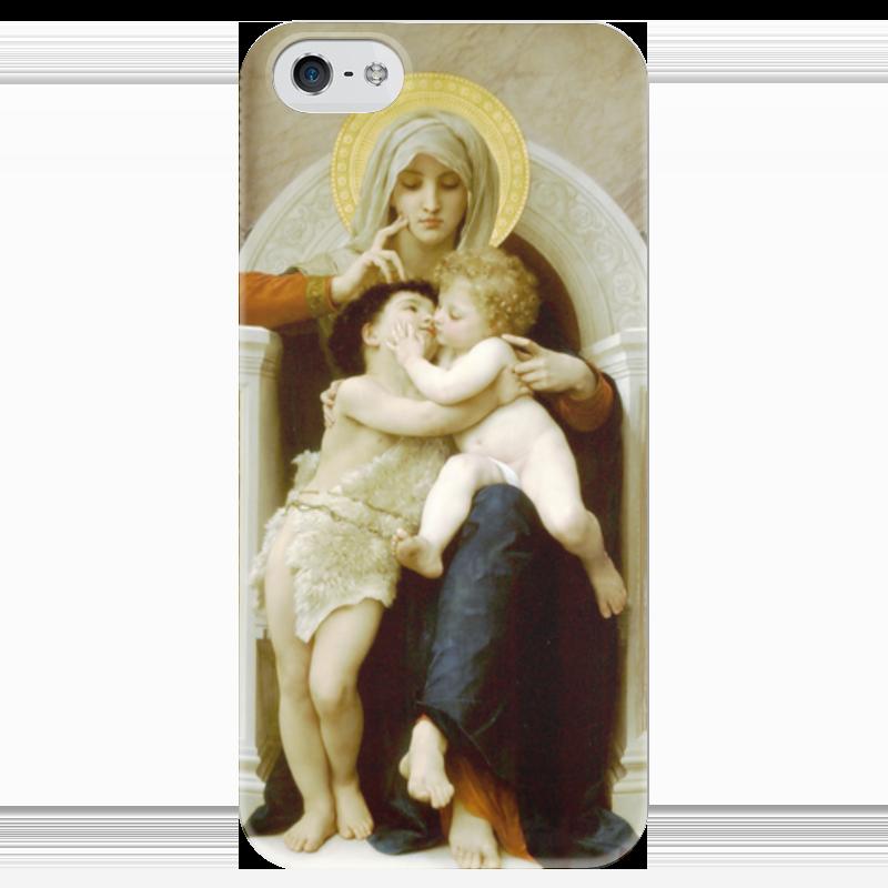 Чехол для iPhone 5 глянцевый, с полной запечаткой Printio Мадонна, иисус и иоанн креститель