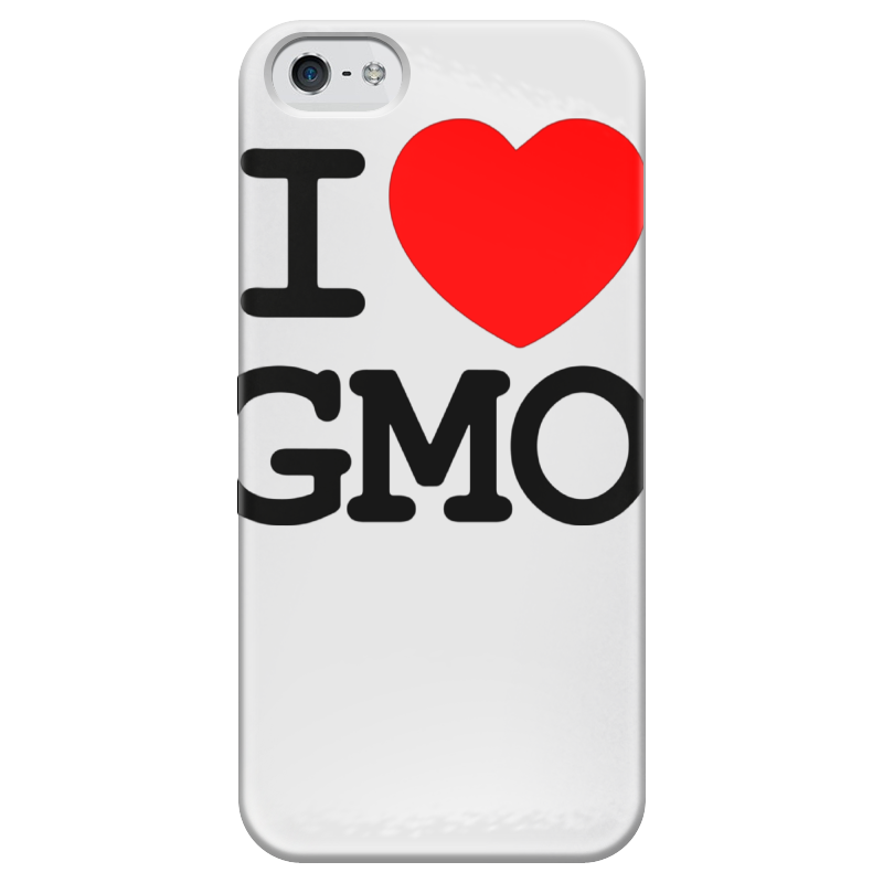 Чехол для iPhone 5 глянцевый, с полной запечаткой Printio I love gmo чехол для iphone 5 глянцевый с полной запечаткой printio love