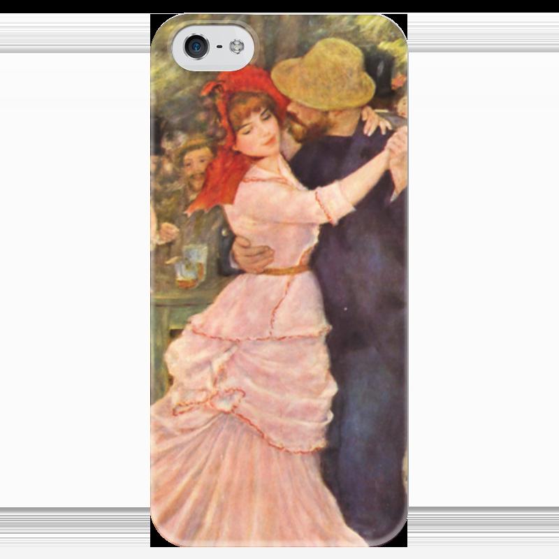 Чехол для iPhone 5 глянцевый, с полной запечаткой Printio Танец в буживале (пьер огюст ренуар) чехол для iphone 5 глянцевый с полной запечаткой printio портрет мадмуазель легран пьер огюст ренуар