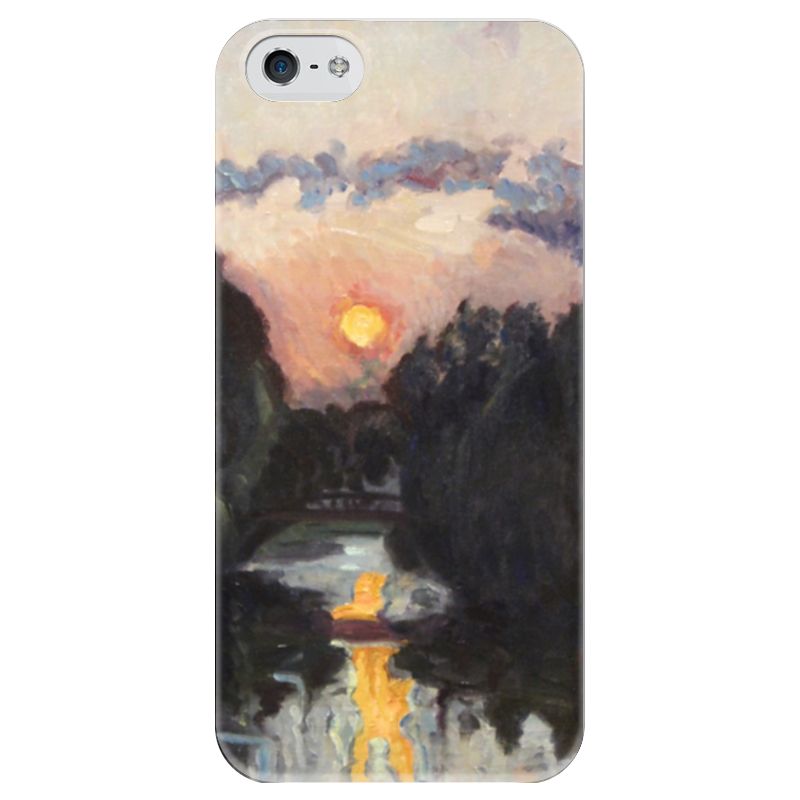 Чехол для iPhone 5 глянцевый, с полной запечаткой Printio Сумерки над озером чехол для iphone 5 глянцевый с полной запечаткой printio флаг пророка жан леон жером