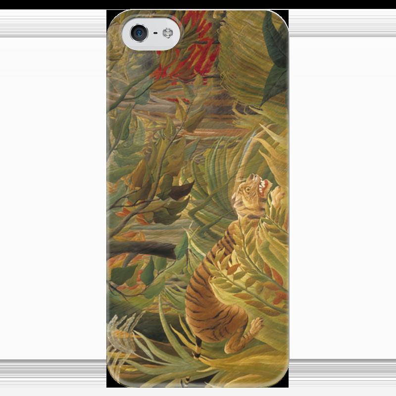Чехол для iPhone 5 глянцевый, с полной запечаткой Printio Нападение в джунглях контратака лучшая защита нападение