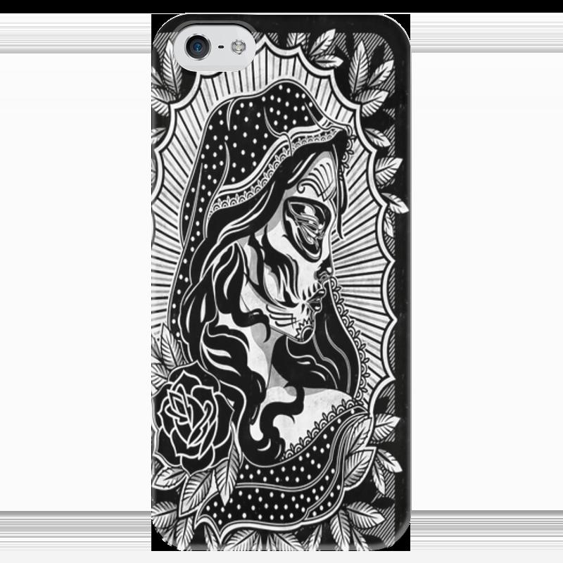 Чехол для iPhone 5 глянцевый, с полной запечаткой Printio Candy skull чехол для iphone 5 глянцевый с полной запечаткой printio spinner mobile white спиннер чехол