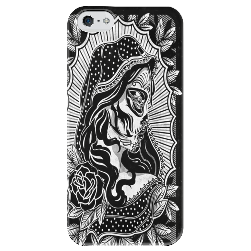 Чехол для iPhone 5 глянцевый, с полной запечаткой Printio Candy skull чехол для iphone 5 глянцевый с полной запечаткой printio red skull