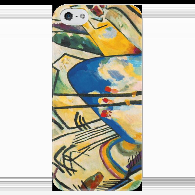 Чехол для iPhone 5 глянцевый, с полной запечаткой Printio Композиция iv (василий кандинский) торт printio points василий кандинский