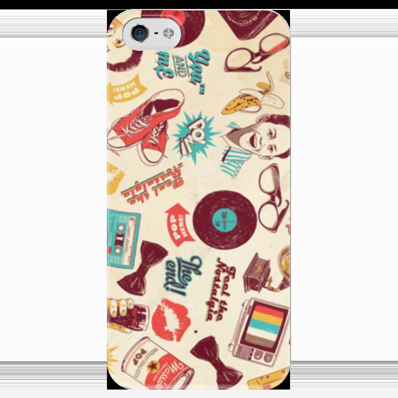 Чехол для iPhone 5 глянцевый, с полной запечаткой Printio Ретро чехол для iphone 6 глянцевый printio модная деваха