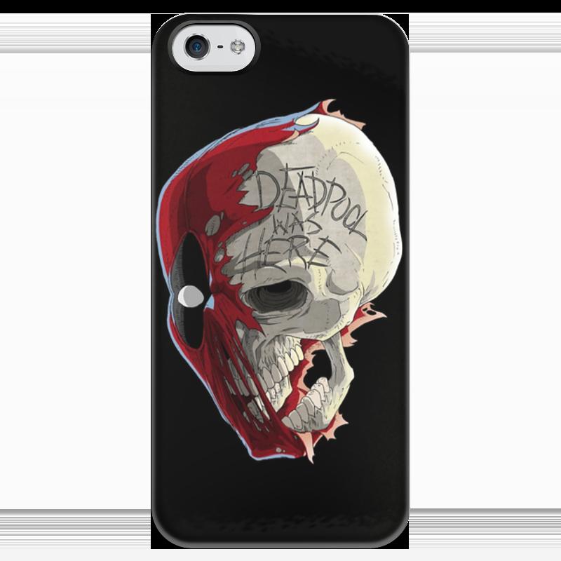купить Чехол для iPhone 5 глянцевый, с полной запечаткой Printio Deadpool по цене 990 рублей