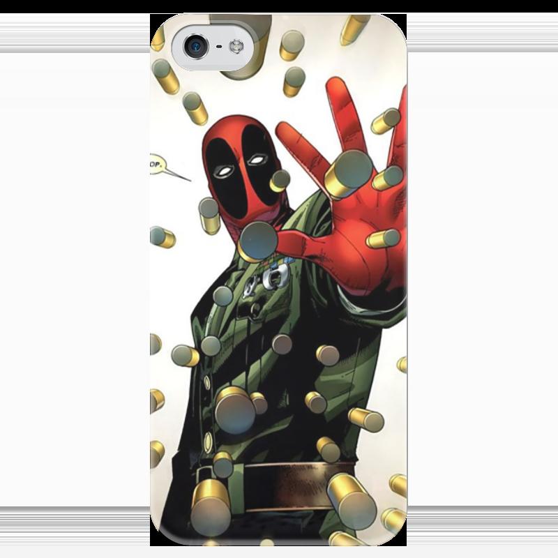 Чехол для iPhone 5 глянцевый, с полной запечаткой Printio Дэдпул (deadpool) чехол для iphone 4 глянцевый с полной запечаткой printio deadpool