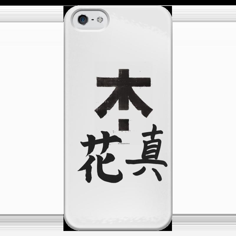 Чехол для iPhone 5 глянцевый, с полной запечаткой Printio Япония. минимализм чехол для iphone 6 plus глянцевый printio япония минимализм