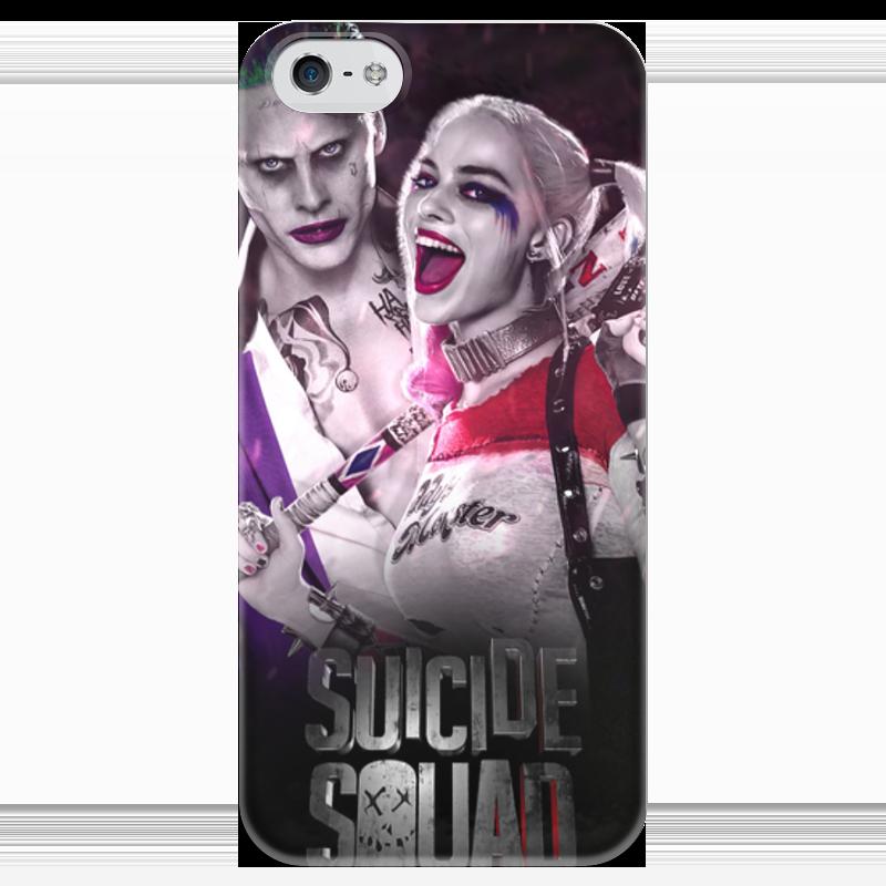 Чехол для iPhone 5 глянцевый, с полной запечаткой Printio Отряд самоубийц чехол для iphone 7 глянцевый printio отряд самоубийц