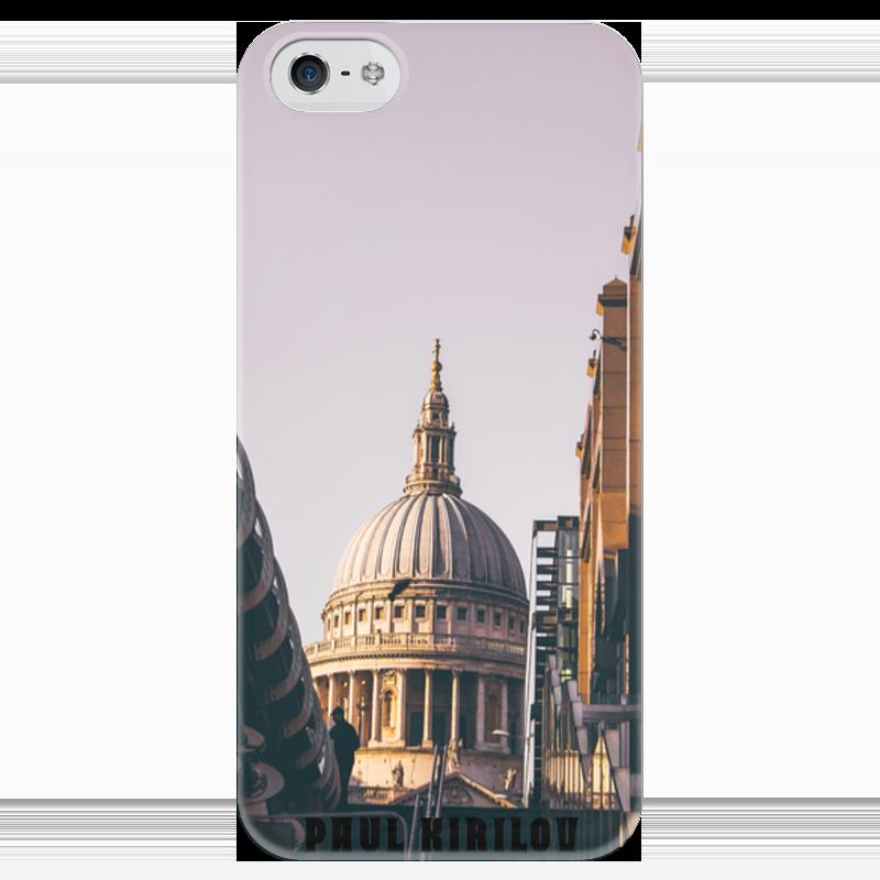 Чехол для iPhone 5 глянцевый, с полной запечаткой Printio St. paul cathedral