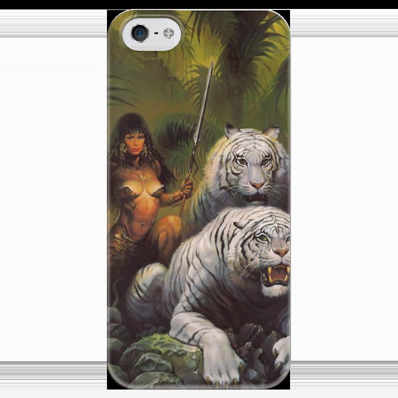 Чехол для iPhone 5 глянцевый, с полной запечаткой Printio Амазонка чехол для iphone 5 глянцевый с полной запечаткой printio spinner mobile white спиннер чехол