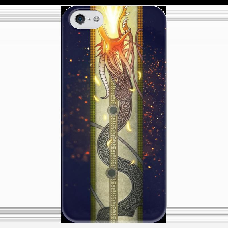 Чехол для iPhone 5 глянцевый, с полной запечаткой Printio Dragon lore чехол для iphone 5 глянцевый с полной запечаткой printio dota 2 dragon knight