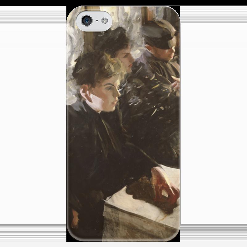 Чехол для iPhone 5 глянцевый, с полной запечаткой Printio Omnibus a charlie chan omnibus